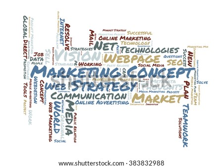 Marketing concept word cloud