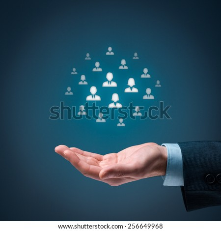 Marketing customer target audience concept.  - stock photo