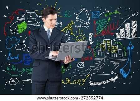 Marketing, email, concept. - stock photo