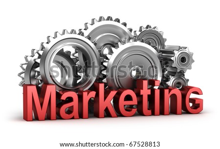 Marketing in the movement. Isolated concept - stock photo