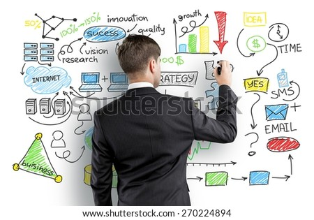 Marketing, media, social. - stock photo