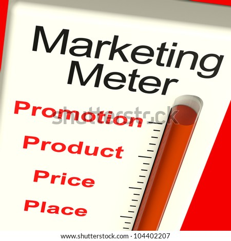 Marketing Meter With Place Price Product And Promotion