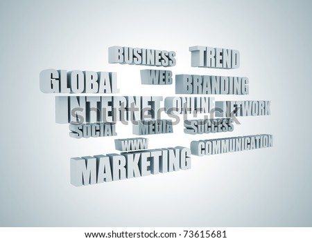 marketing related words - stock photo
