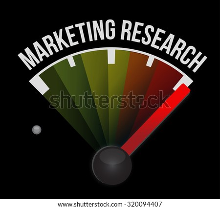 Marketing Research meter sign concept illustration design graphic