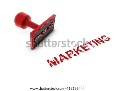 marketing stamp - 3D illustration