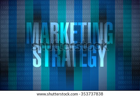 marketing strategy binary sign concept illustration design graphic