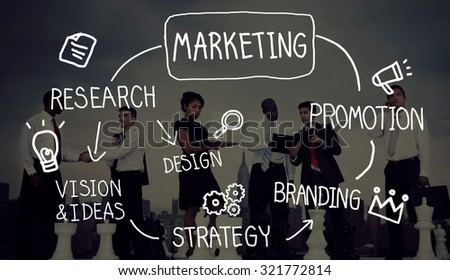 Marketing Strategy Business Information Vision Target Concept - stock photo