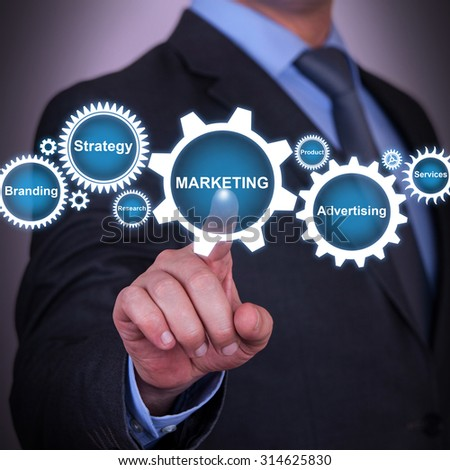 Marketing Strategy Gear Concept - stock photo