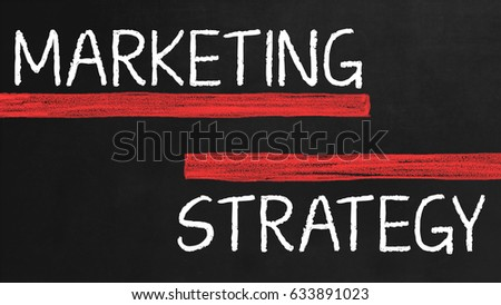 Marketing Strategy on chalk board