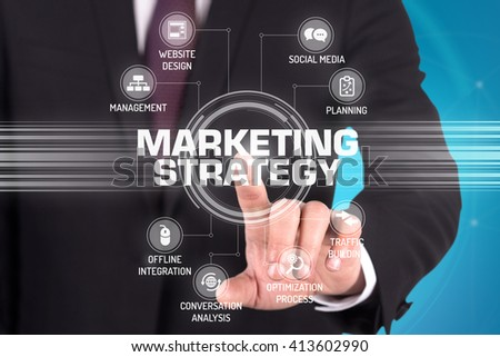 MARKETING STRATEGY TECHNOLOGY COMMUNICATION TOUCHSCREEN FUTURISTIC CONCEPT