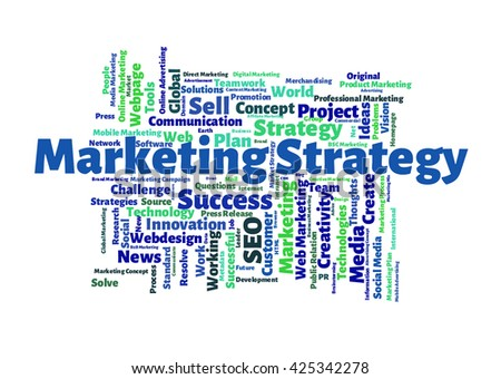 Marketing Strategy word cloud - stock photo