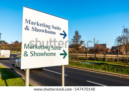 Marketing Suite Showroom Sign for New Build Development.