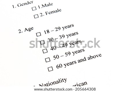 Marketing Survey, Age