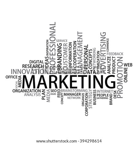 Marketing Tag Cloud - stock photo