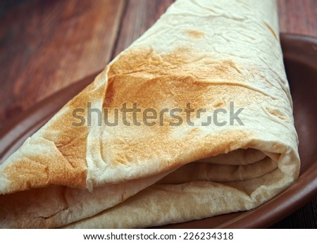 Markook - flatbread common in the countries of the Levant.Yufka is a Turkish bread. It is a thin, round, and unleavened flat bread similar to lavash