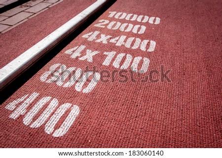 Marks on the stadium - stock photo