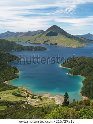 Marlborough Sounds, New Zealand - stock photo