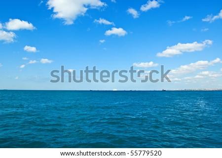 Marmara sea near Istanbul city. - stock photo