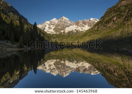 Maroon Bell Mountains - stock photo