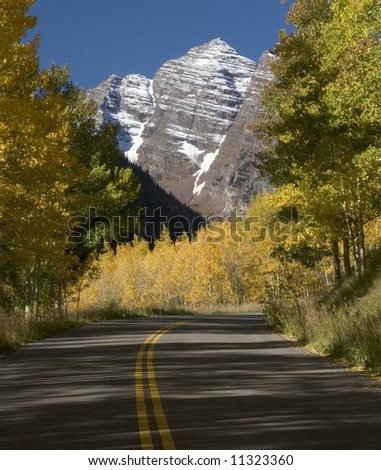 Maroon Bells and Road