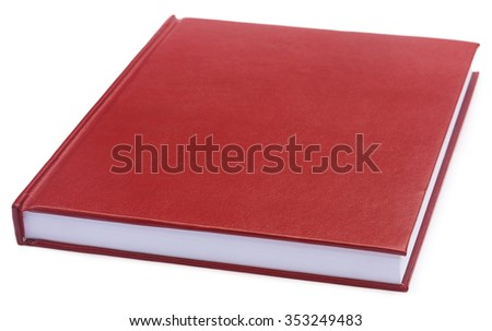 Maroon colored thesis paper over white background