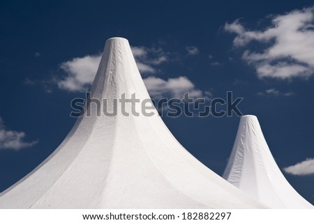 Marquee Tent with blue Sky