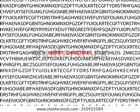 Marry Christmas. letters background