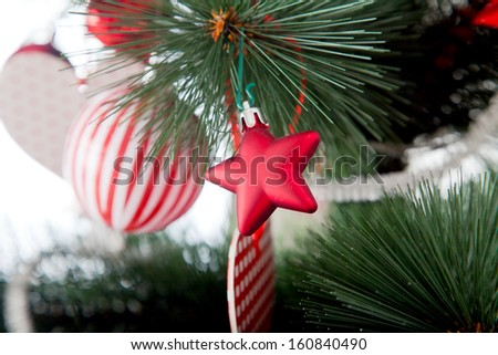 marry cristmas and happy new year, image of a crismas toy - stock photo