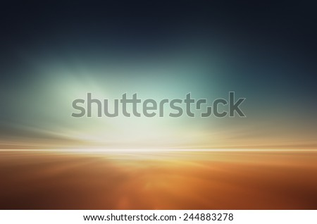 Mars desert like fantasy landscape - stock photo