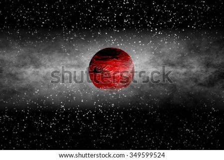 Mars-like Exoplanet - stock photo