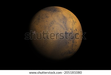 "Mars planet ""Elements of this image furnished by NASA"" - stock photo"