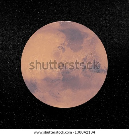 Mars planet in the universe.  - stock photo