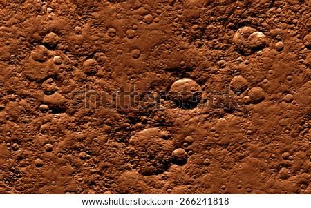 Mars surface - stock photo
