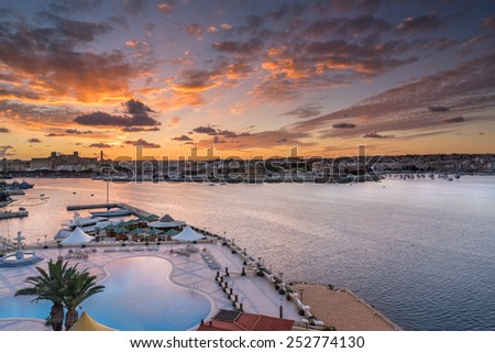 Marsamxett Harbor in Valletta - stock photo