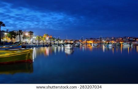 Marsaxlokk Fishing Village, Malta - stock photo
