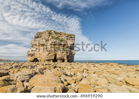 Marsden Rock is a dolomitic sea stack at Marsden Beach in South Shields,Tyne and Wear, England.
