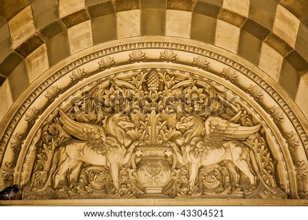 Marseille Cathedral exterior details, France - stock photo