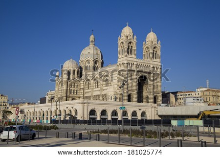 Marseille Cathedral, Marseilles, France, Provence - stock photo