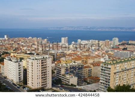 Marseille Cityscape - stock photo