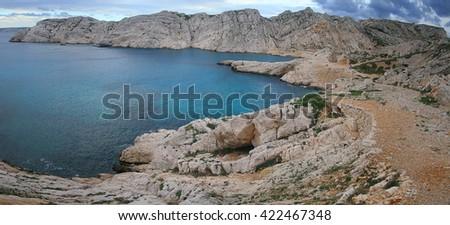 Marseille (France) Frioul islands - stock photo