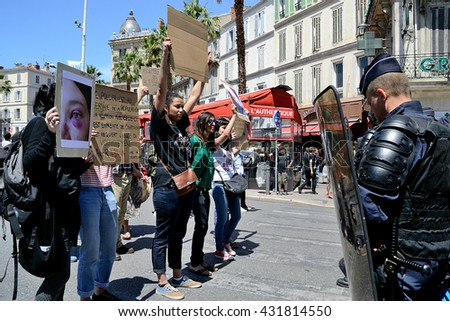 Marseille, France - June 05, 2016: Youth protest against police brutality