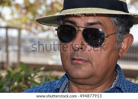 Marseille, France - October 06, 2016 : Brazilian cartoonist Josivan Joe Bonfim at the 5th edition of the International festival of press and political cartoons at l'Estaque.