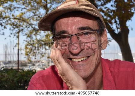 Marseille, France - October 06, 2016 : French cartoonist Patrick Redon alias Red at the 5th edition of the International festival of press and political cartoons at l'Estaque.