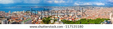 Marseille, France panorama. The famous european harbour. - stock photo