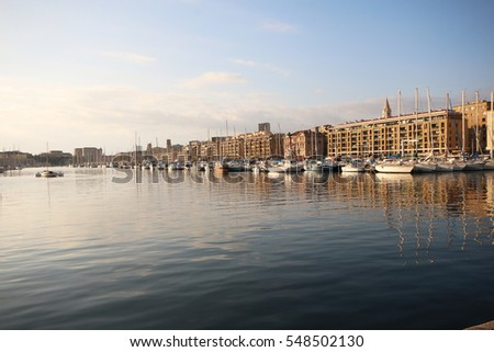 MARSEILLES, FRANCE - DECEMBER 30, 2016: Old port. Marseille is the second largest city in France after Paris