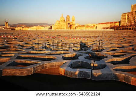 MARSEILLES, FRANCE - DECEMBER 30, 2016: Roof of the Museum. Marseille is the second largest city in France after Paris