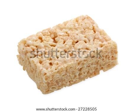 Marshmallow square bar on white - stock photo