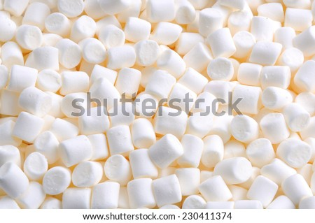 marshmallows - stock photo