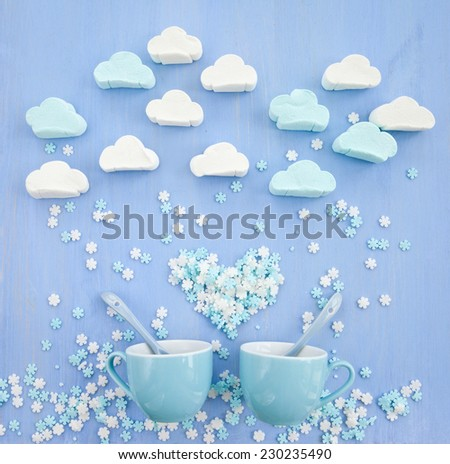 Cloud Shaped Marshmallows Marshmallows in Cloud Shapes