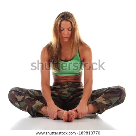Martial Artist in Meditation  - stock photo